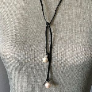 Jewelry - Leather and Pearls!